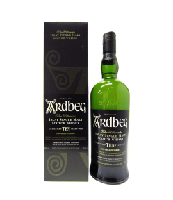 Ardbeg 10 years old. Islay Single Malt Scotch Whisky. Gradazione alcolica 46,0%.