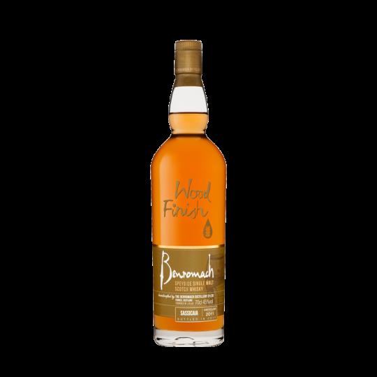 Benromach Sassicaia Wood Finish. Speyside single malt scotch whisky. Gradazione alcolica 45,0%.