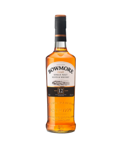 Bowmore 12 years old. Single Malt Scotch Whisky. Gradazione alcolica 40,0%.