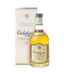 Dalwhinnie Distillery 15 years old. Highland Single Malt Scotch Whisky. Gradazione alcolica 43,0%.