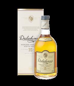 Dalwhinnie Distillery 15 years old. Highland Single Malt Scotch Whisky. Gradazione alcolica 43,0%.