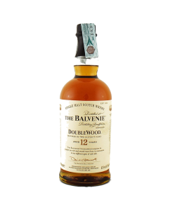 The Balvenie 12 years old DoubleWood. Speyside Single Malt Scotch Whisky. Gradazione alcolica 43,0%.