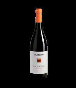 Damiliano Barbera D'asti Docg. Vino Rosso Piemonte. Gradazione alcolica 12,0%.