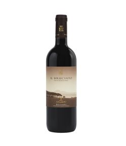 Il Bruciato Antinori. 65% Cabernet Sauvignon, 20% Merlot, 15% Syrah. Gradazione alcolica 14,0%.