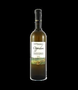 Moscato di TerracinaOppidum Doc 2019. L'aroma è dolce, dal gusto secco, di buona struttura. Piacevolmente sapido, lascia alla bocca il piacere dell'uva da cui proviene. Eccellente aperitivo.