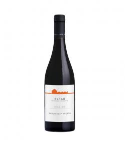 Sicilia Syrah DOC 2018.Vino rosso caratterizzato da di ciliegia matura e frutti di bosco, con sentori balsamici e di pepe bianco. Secco e sapido al palato.