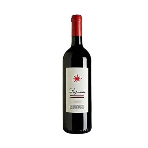 """Toscana """"Lupicaia"""" IGT. Colore rosso rubino, profuma di frutta rossa, ribes, amarene, cioccolato, spezie. Di buon corpo, equilibrato e persistente."""
